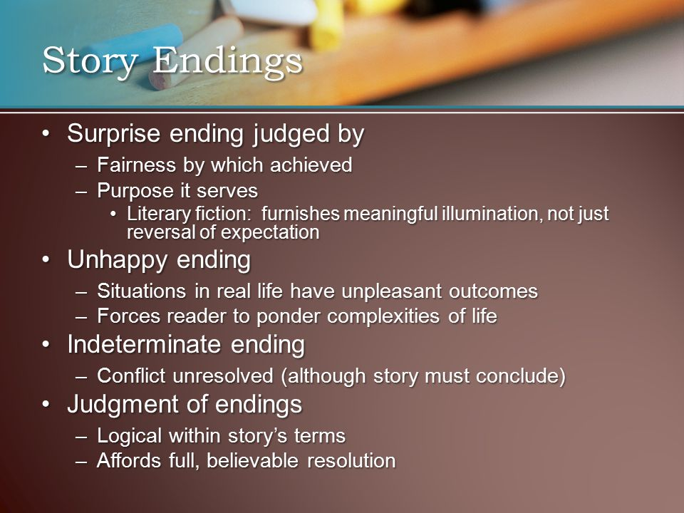 How to Write Successful Endings
