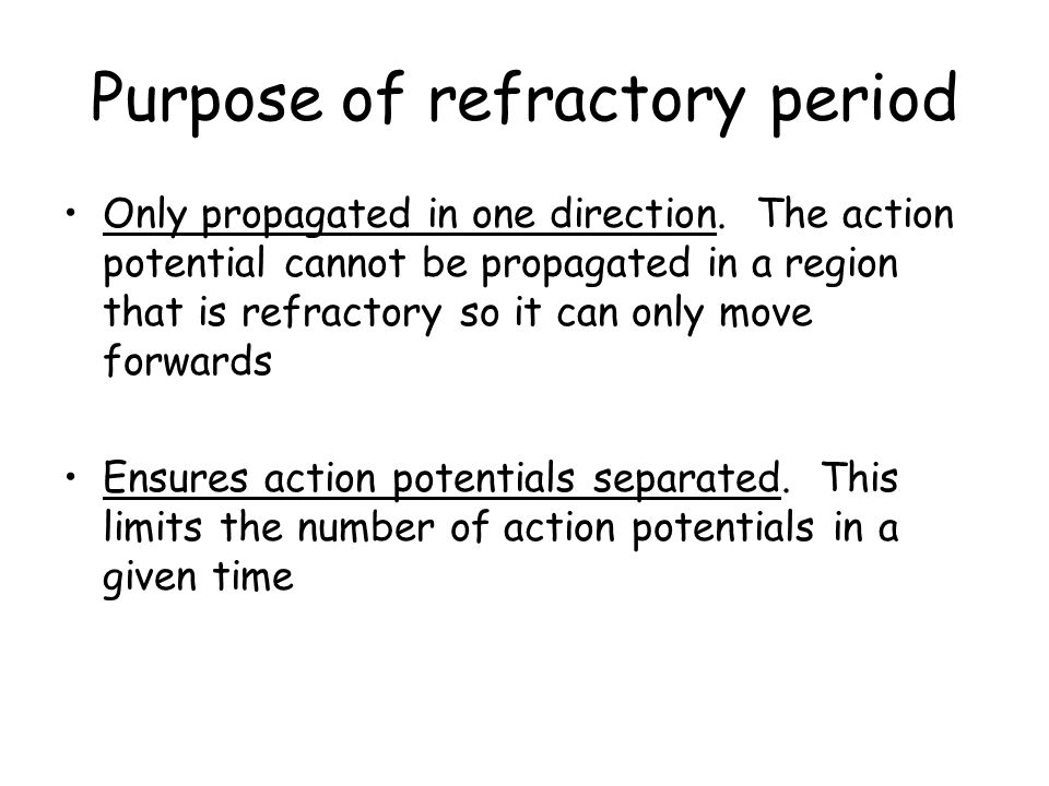 Purpose of refractory period