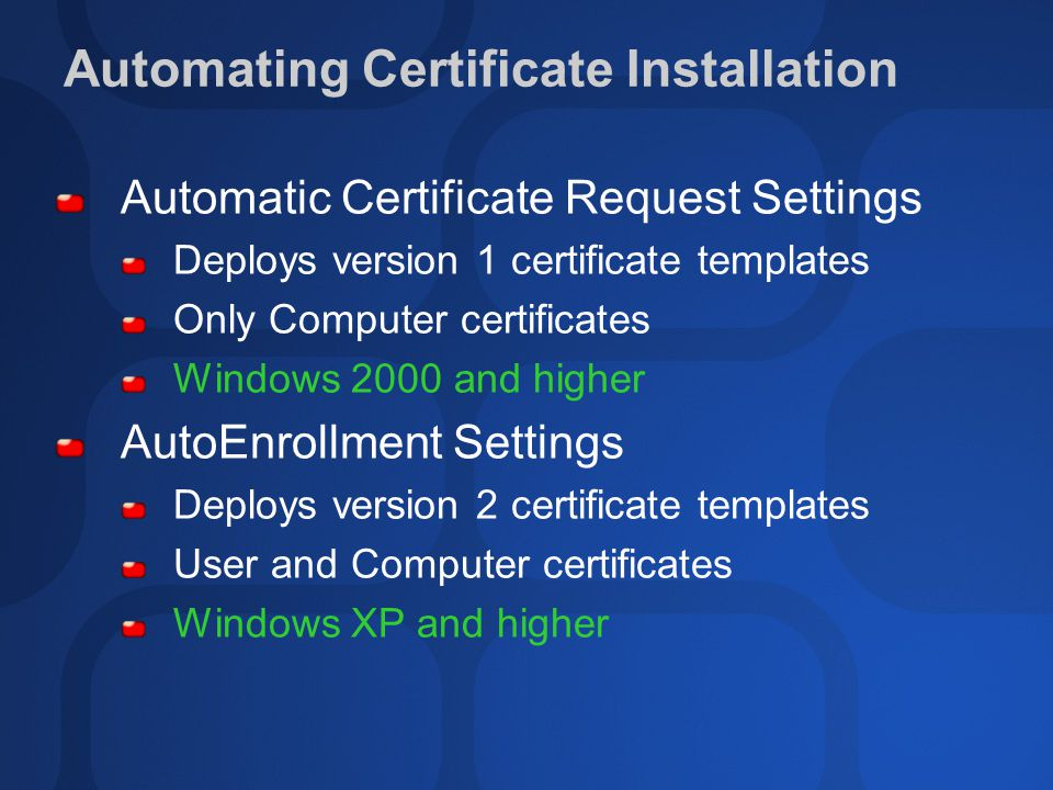 Sec316 planning and deploying pki in the real world ppt video automating certificate installation yadclub Gallery