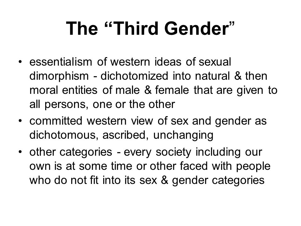 Third sex in our society