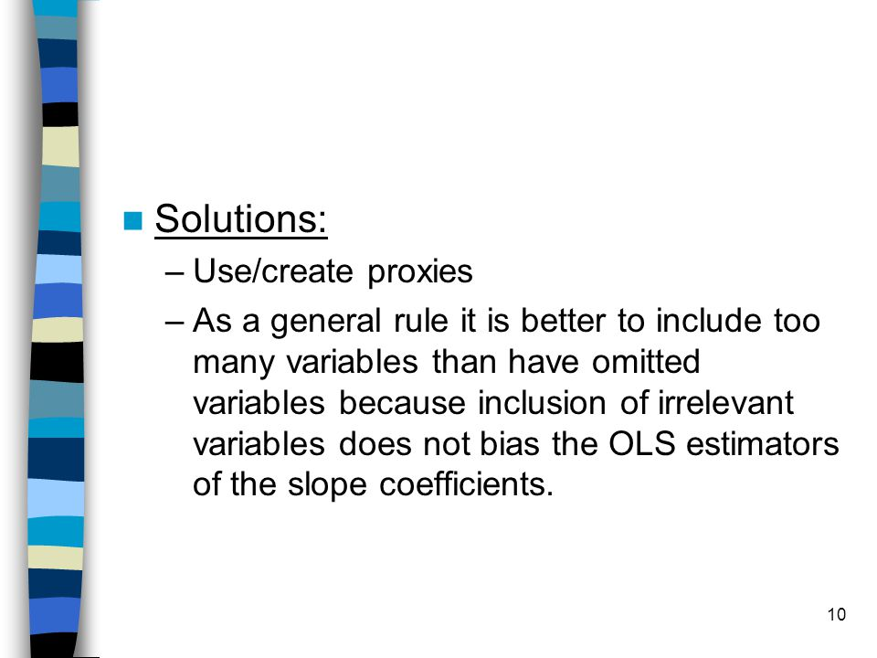 Solutions: Use/create proxies