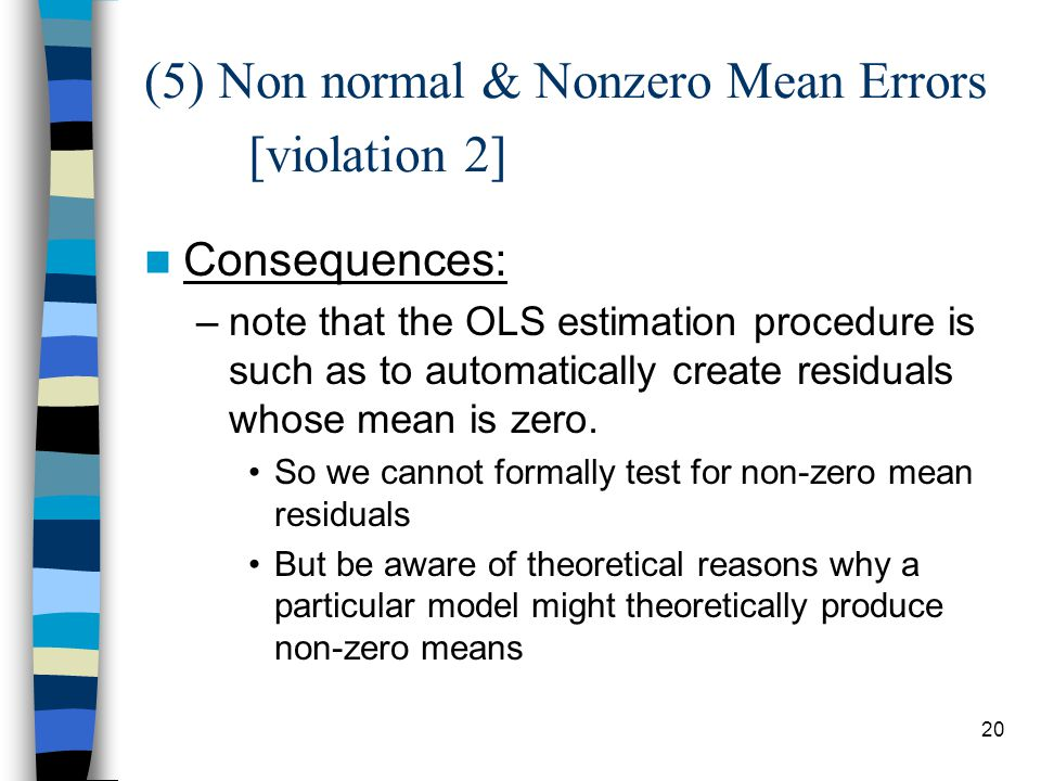 (5) Non normal & Nonzero Mean Errors [violation 2]