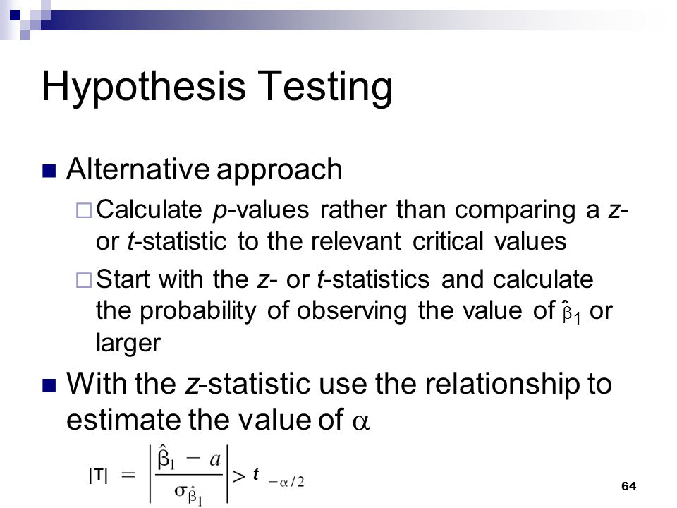 relationship between z and statistics calculate