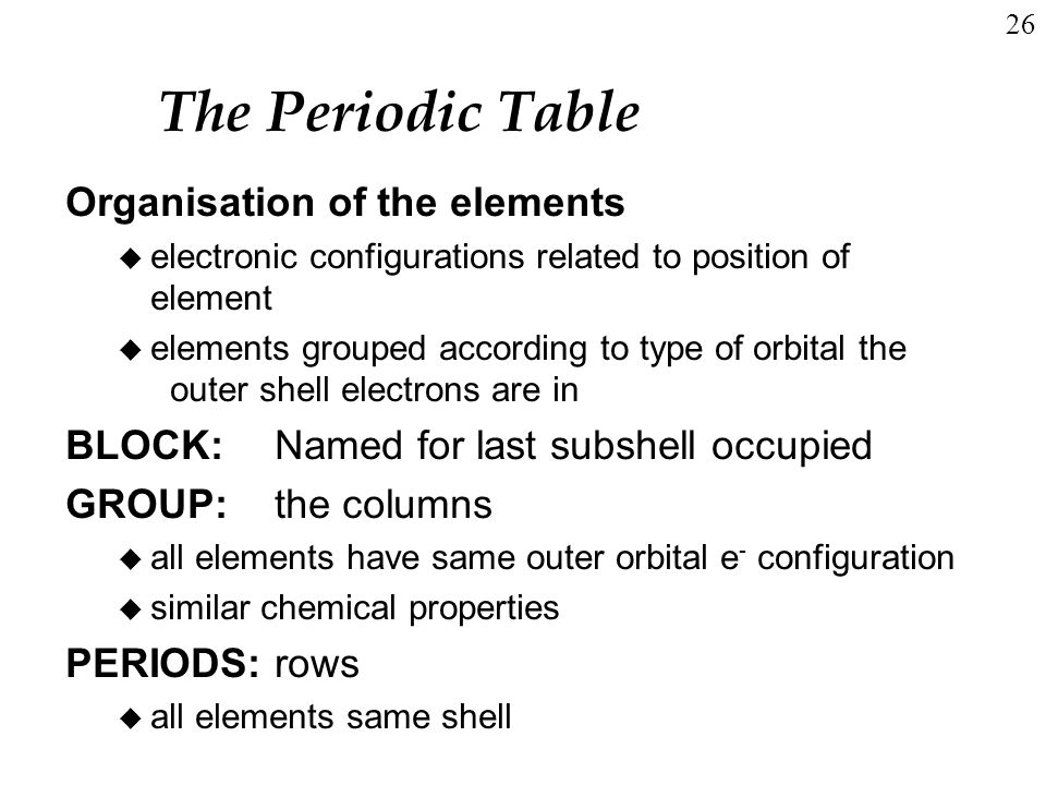 Many electron atoms and the periodic table ppt video online download the periodic table organisation of the elements urtaz Choice Image
