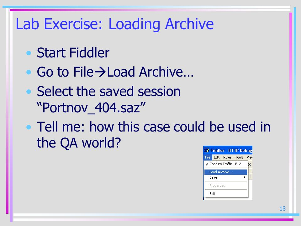 Lab Exercise: Loading Archive