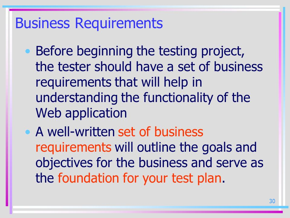 Business Requirements