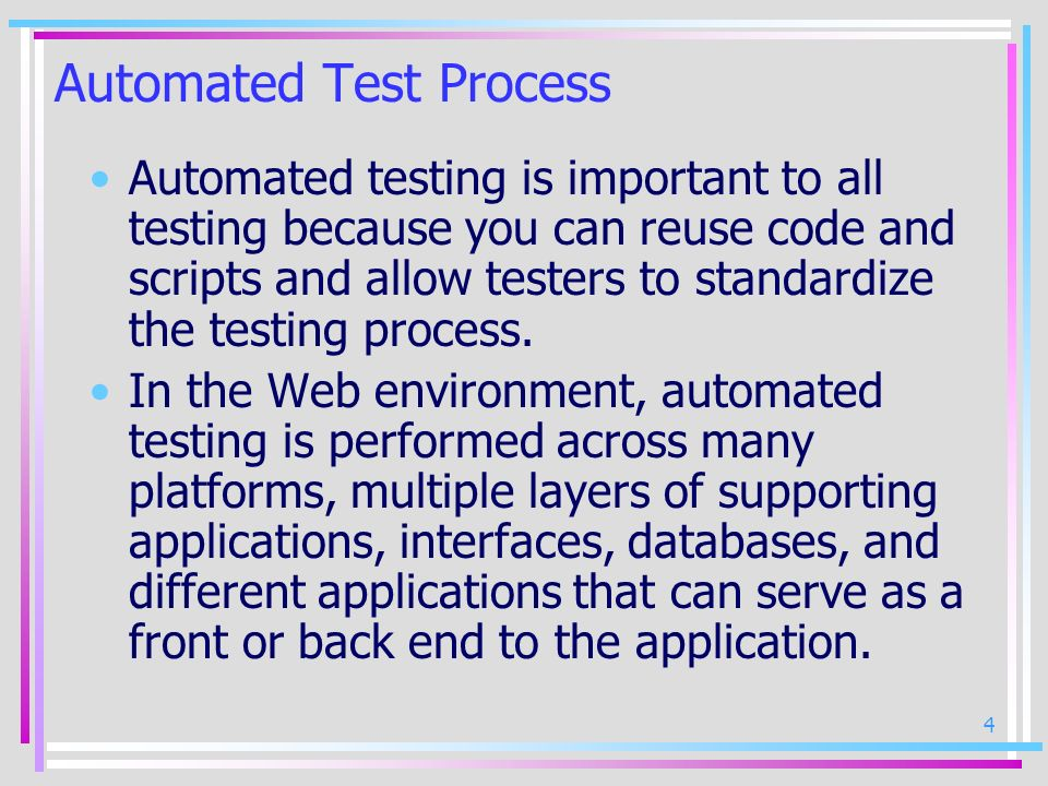Automated Test Process