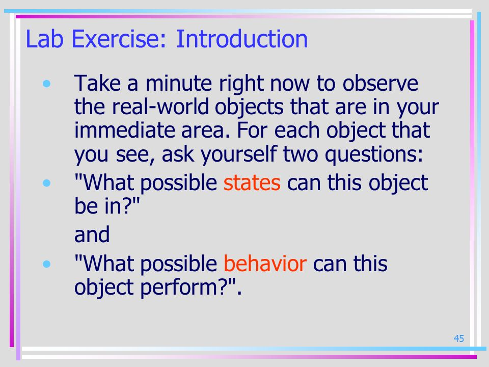 Lab Exercise: Introduction