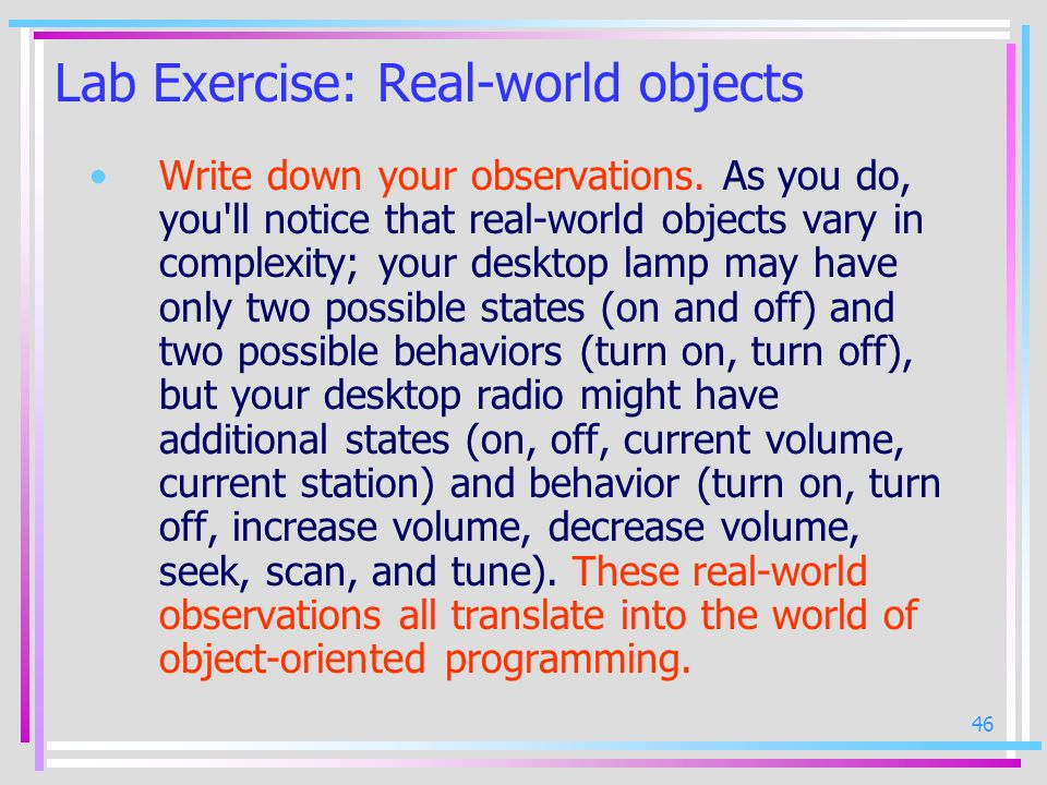 Lab Exercise: Real-world objects