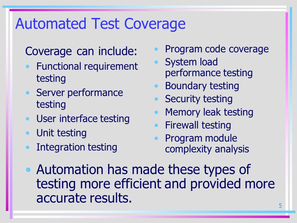 Automated Test Coverage