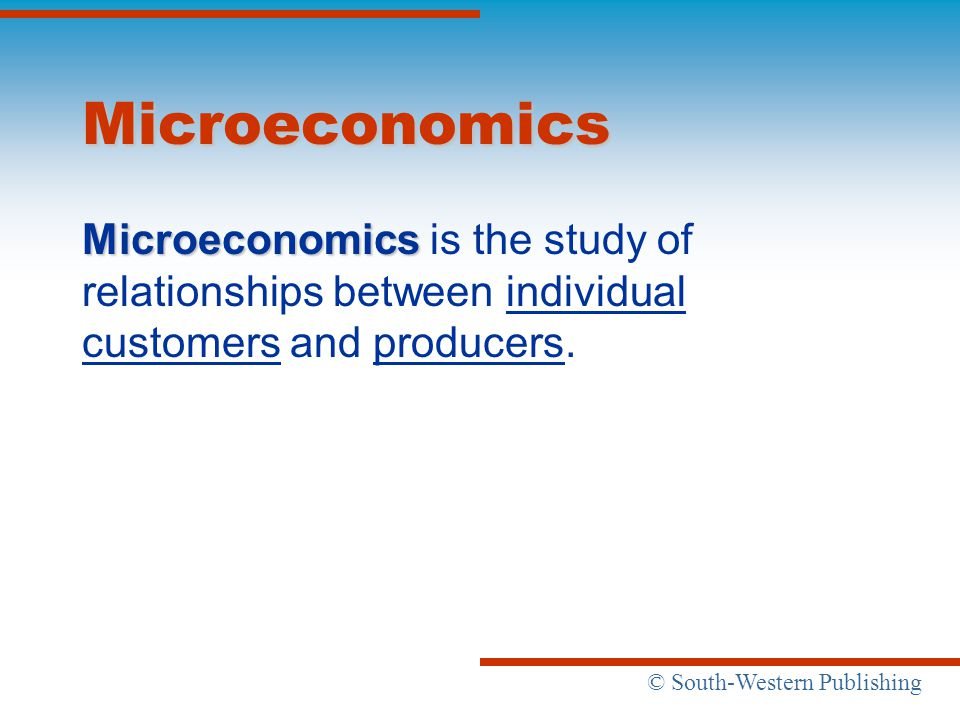 microeconomics of customer relationships The microeconomics of customer relationships fred reichheld, a director emeritus and bain fellow at bain & company, is the author of the loyalty effect (1996) and .