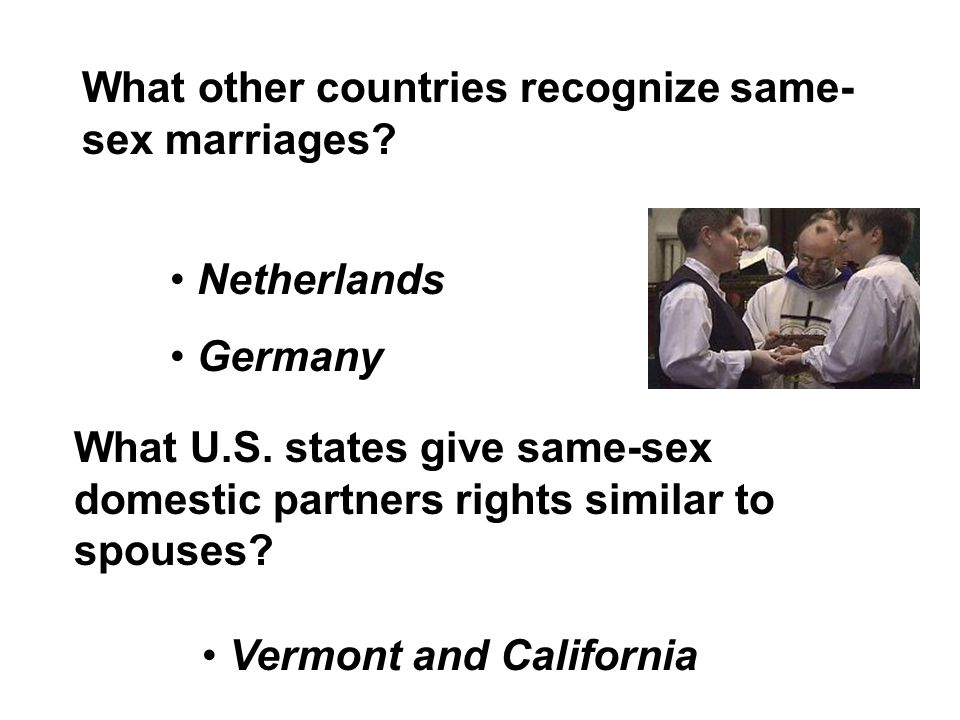 States that recognize same sex couples