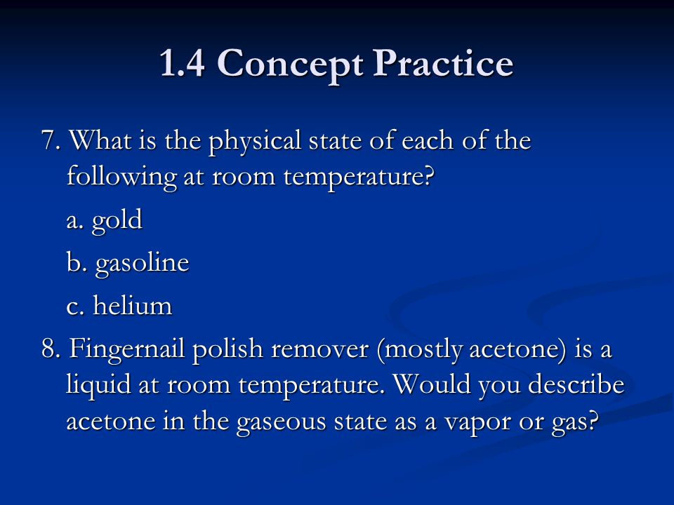 What Is Gasoline Physical State At Room Temperature