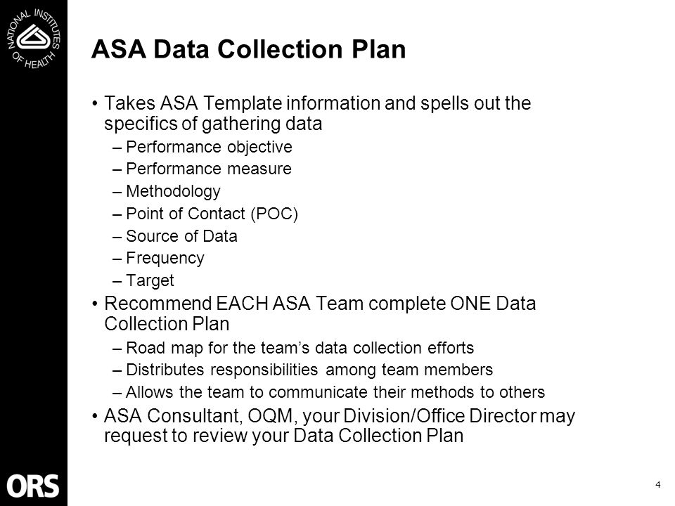 training objectives prepare you to plan for data collection and, Presentation templates