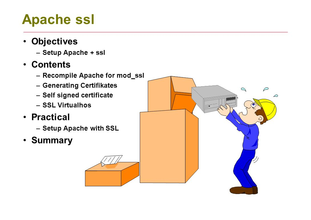 Apache Ssl Objectives Contents Practical Summary Setup Apache Ssl
