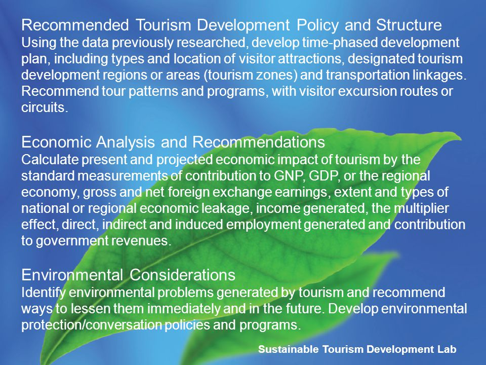 sustainable tourism development its impact to Local government`s role in the sustainable tourism development of a impacts is nowadays a challenge to sustainable tourism development is.