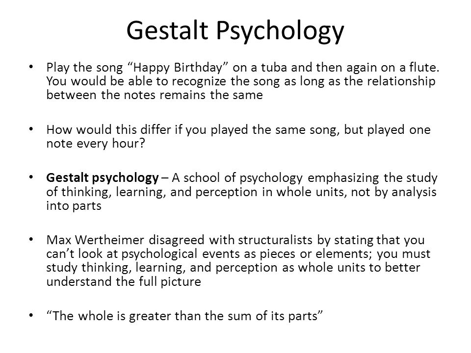 "an introduction to the analysis of gestalt psychology Gestalt essays and research papers so this can be little more than an introduction ""gestalt psychology is an approach to psychology that."