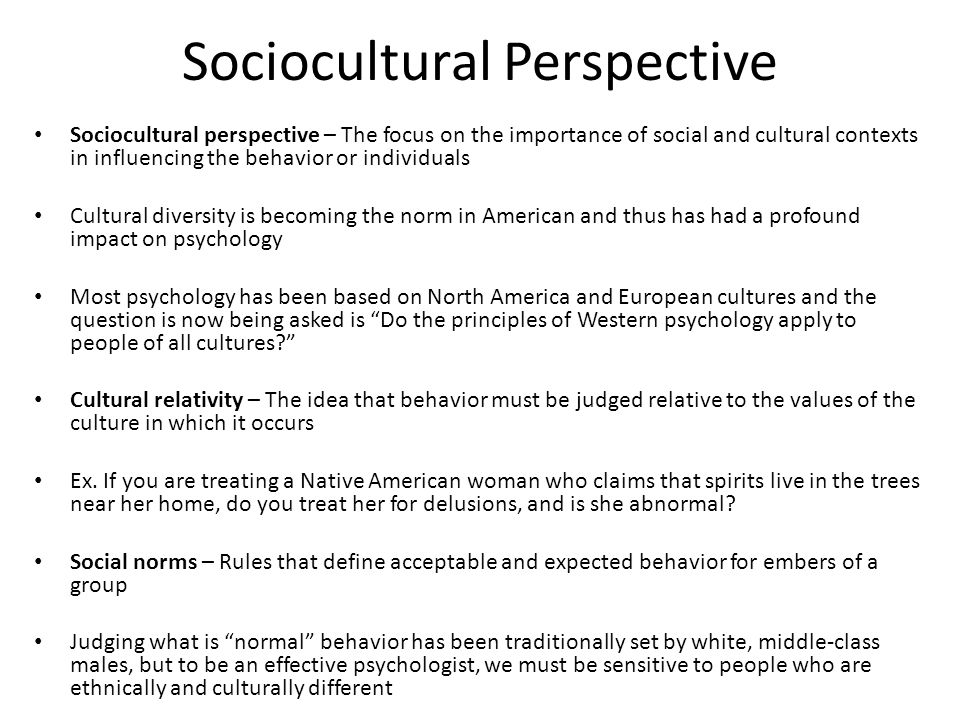 definition of normal psychology Determining what is normal behavior and what is not  a psychological definition of normal is an absurd concept what was normal 20 years ago, now is not, and what was abnormal 20 years ago .
