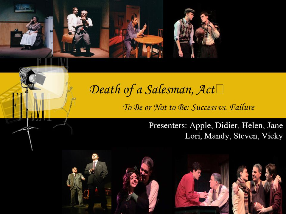 death of a salesman failure as Death of a salesman: critique of the american dream  miller shows this failure of willy not only in his clinging to past models, but even in his reference to.