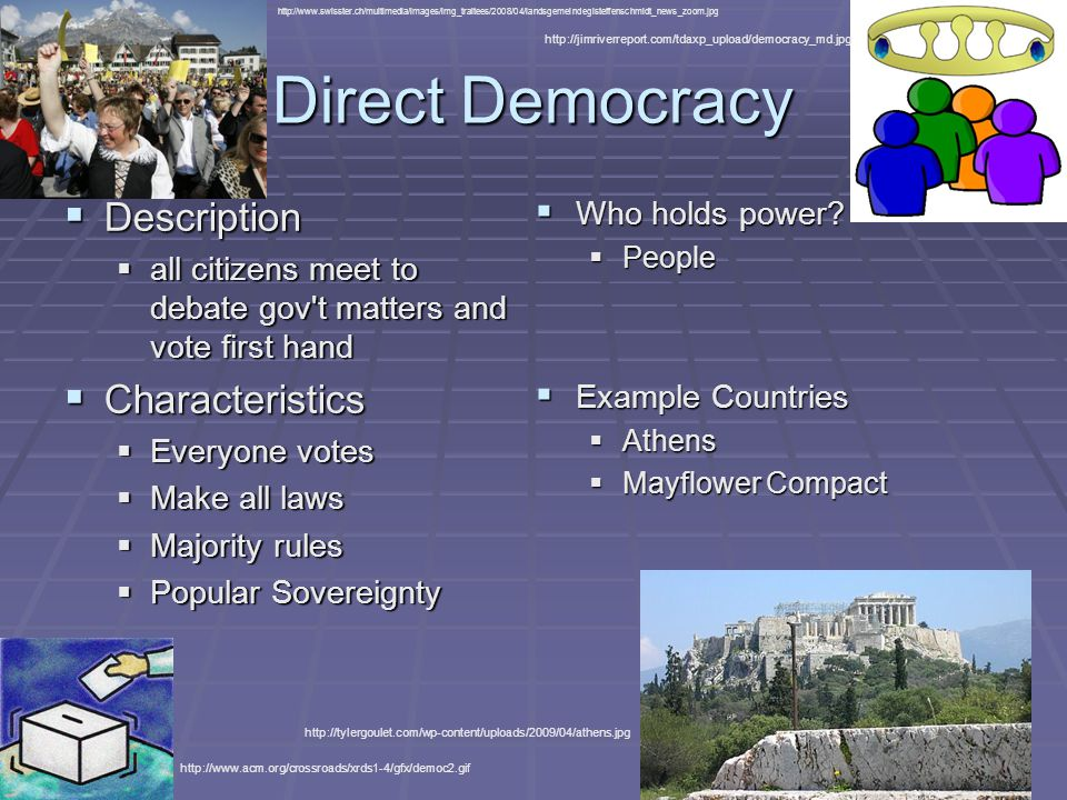 Types of Governments. - ppt video online download Direct Democracy Examples