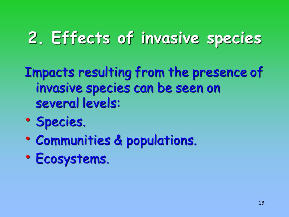 economic impact of invasive species Invasive species in the united states the brown tree snake (boiga irregularis), an invasive species in the economic impacts of invasive species.