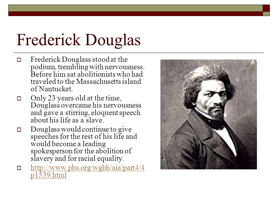 frederick douglass' outright and subtle irony The narrative of the life of frederick douglass documents frederick douglass's life as a slave, as well as his eventual escape from freedom throughout the book, douglass details his various experiences of slavery from a very young child on a maryland plantation that was too young to work.