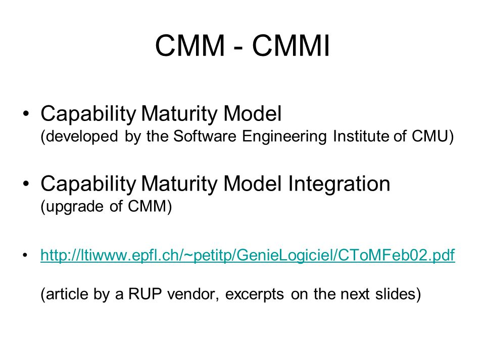 cmm capability maturity model pdf