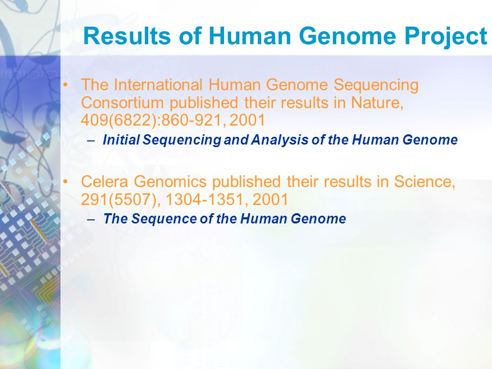 an analysis of the human genome project Help me understand genetics an introduction to fundamental topics related to human genetics  what were the goals of the human genome project.