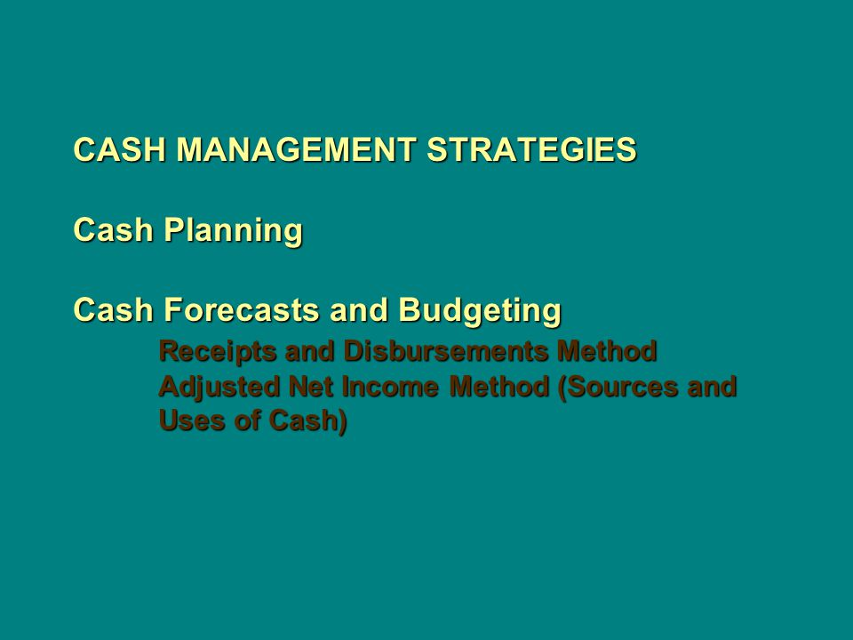 cash management techniques and methods of View 6_techniques_of_cash_management from econ 84747 at university of economics, prague 6 techniques of cash management international finance karel bruna types of liquidity global liquidity market.