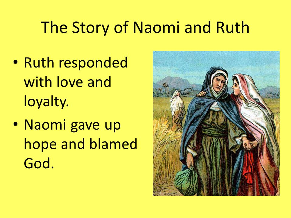 An overview of the story of ruth and the god