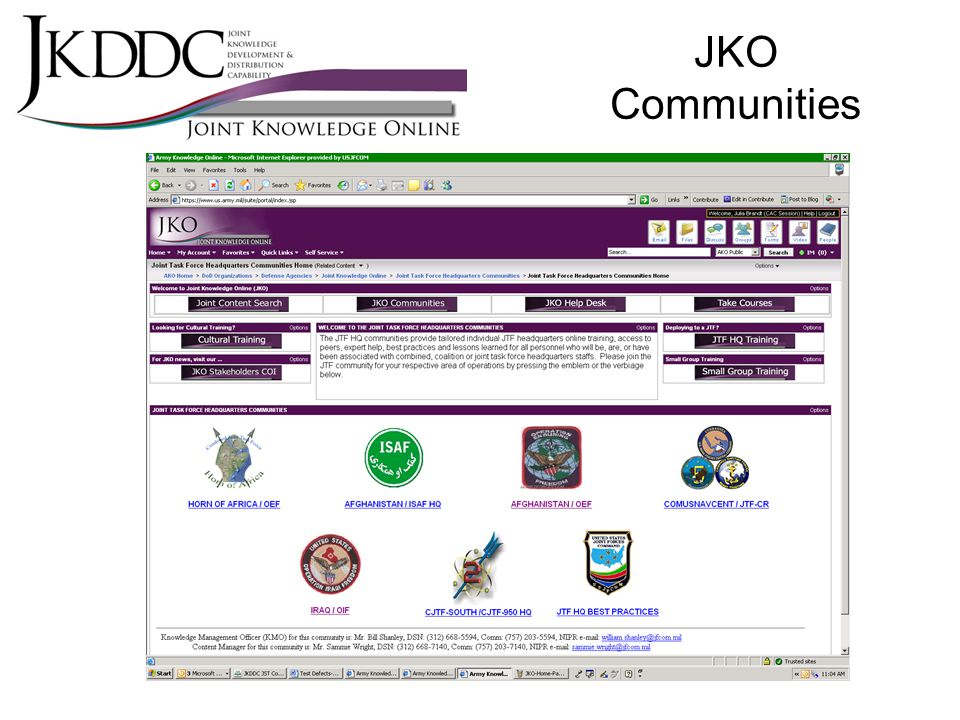 Joint Knowledge Online Jko Today And Tomorrow Ppt