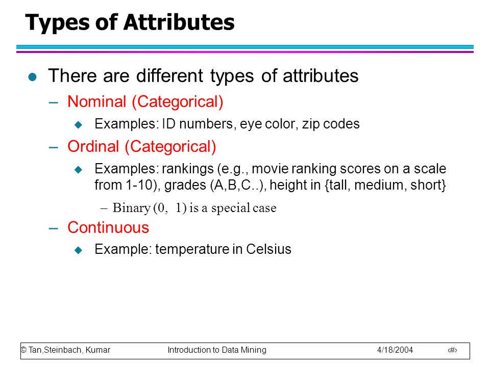 Types of attributes in data mining ques10