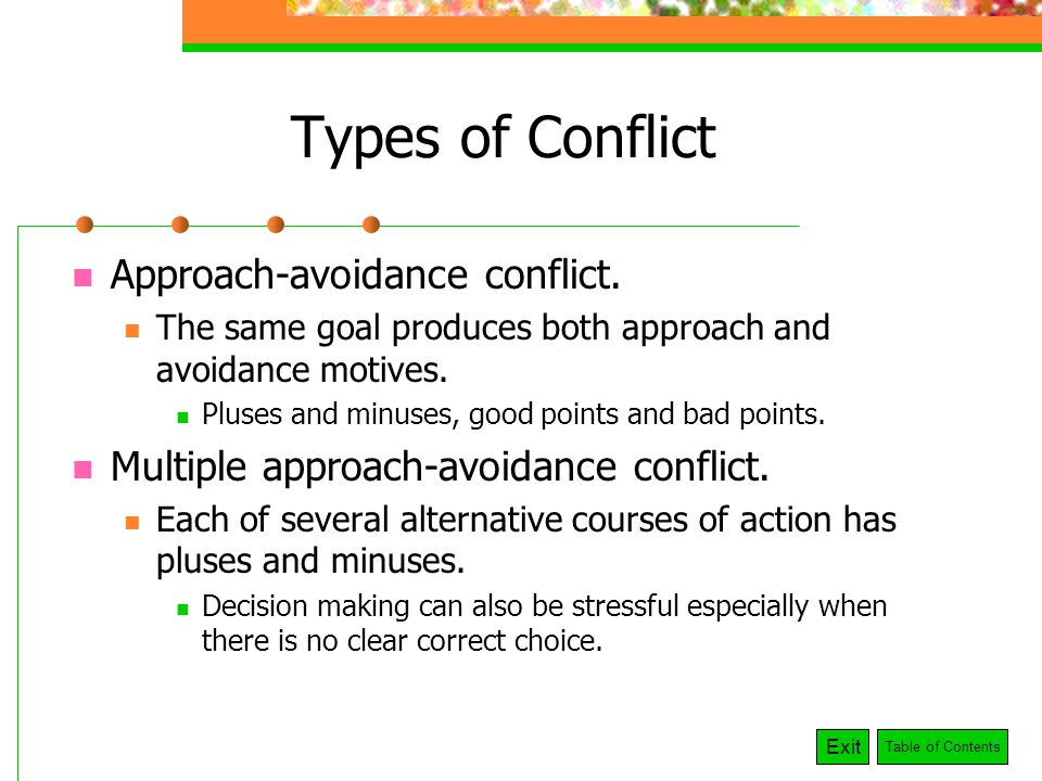 avoiding conflict Sometimes, avoiding conflict can become more problematic than dealing with the problem head-on however, some people choose to avoid conflict for a variety of reasons.
