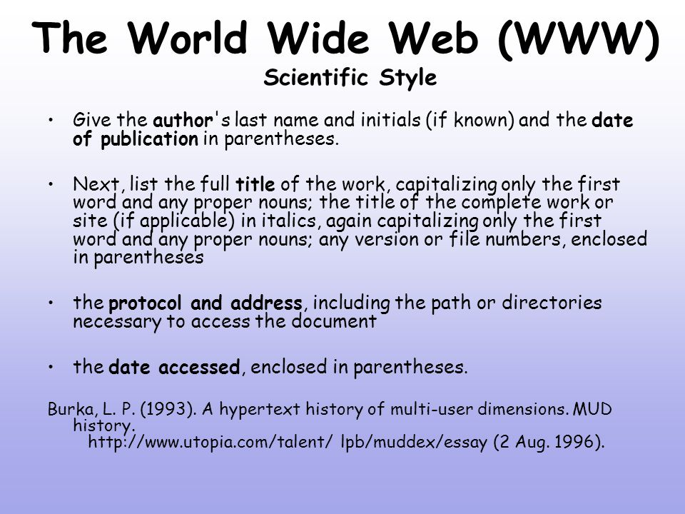 searching the internet ppt  the world wide web scientific style