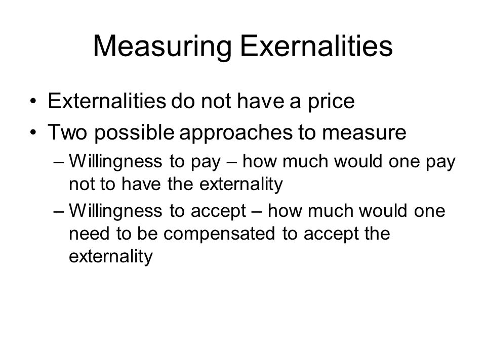 Measuring Exernalities
