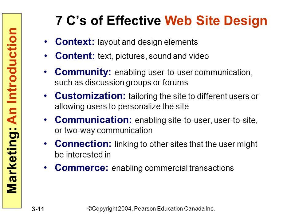 7 C's of Effective Web Site Design