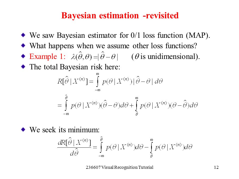 Bayesian estimation -revisited