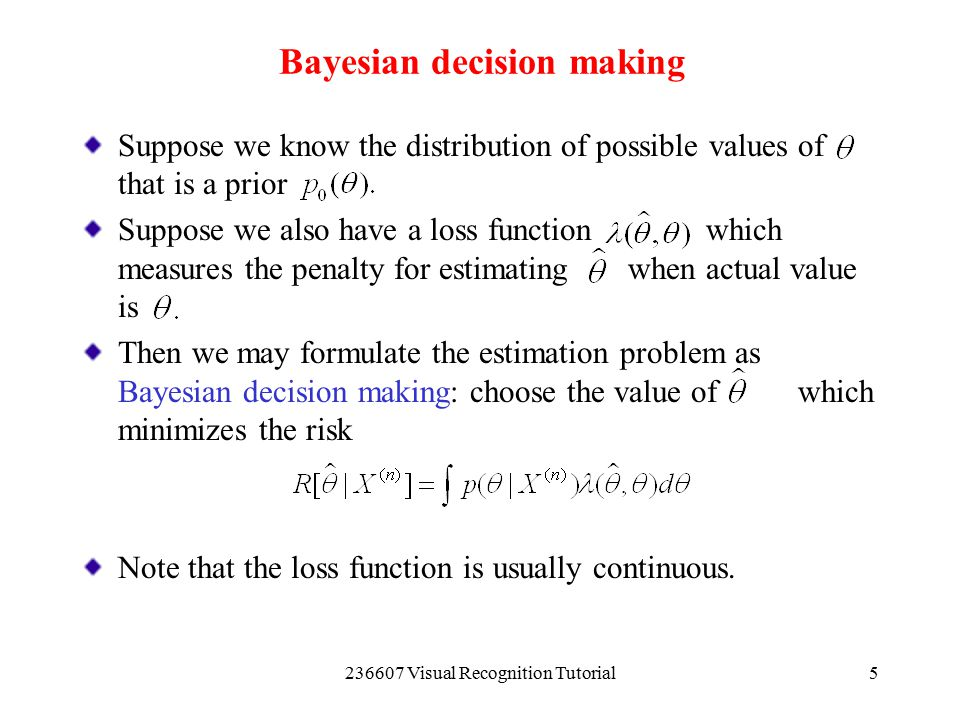 Bayesian decision making