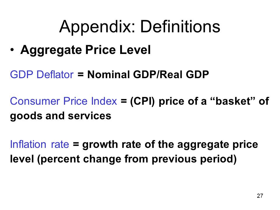 study of consumer price index in The consumer price index (cpi) is one of the most important measures used in  economic analysis.