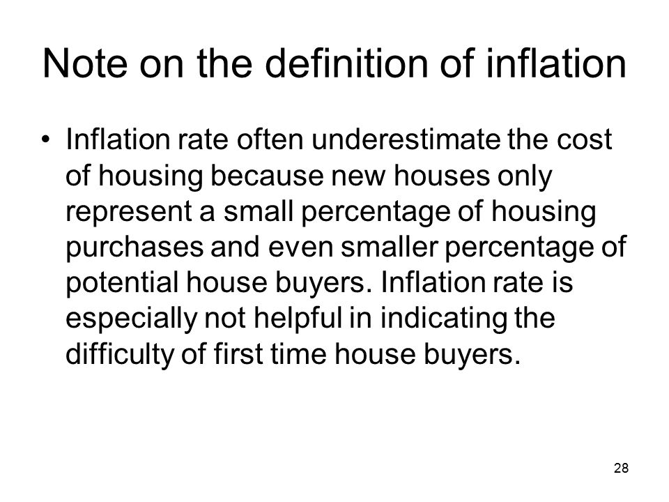 Note on the definition of inflation