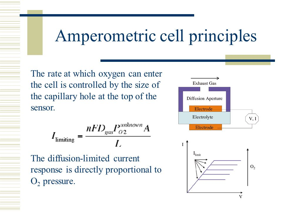 Amperometric cell principles