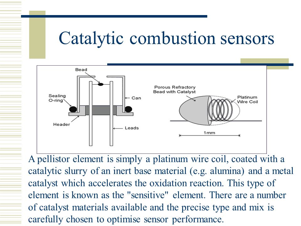Catalytic combustion sensors