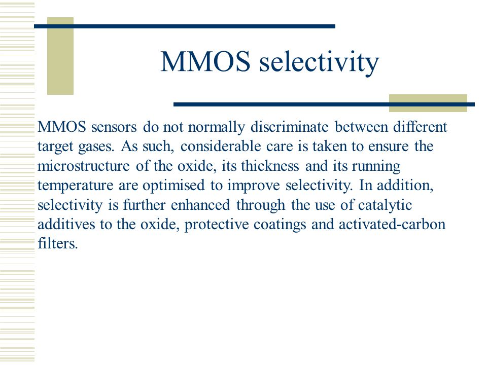 MMOS selectivity