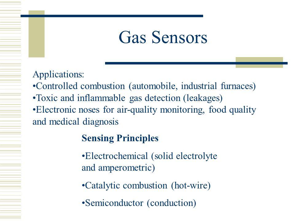 Gas Sensors Applications: