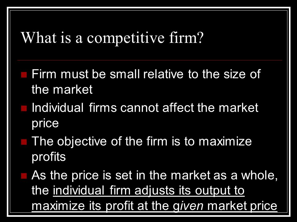 What is a competitive firm