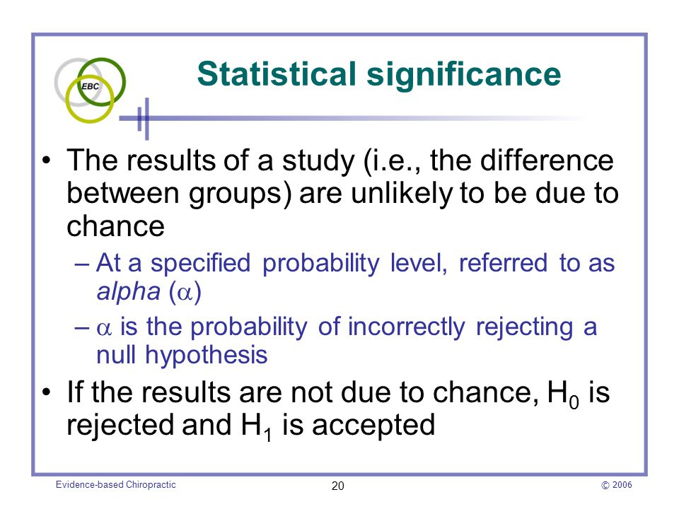 how to choose significance level in statistics