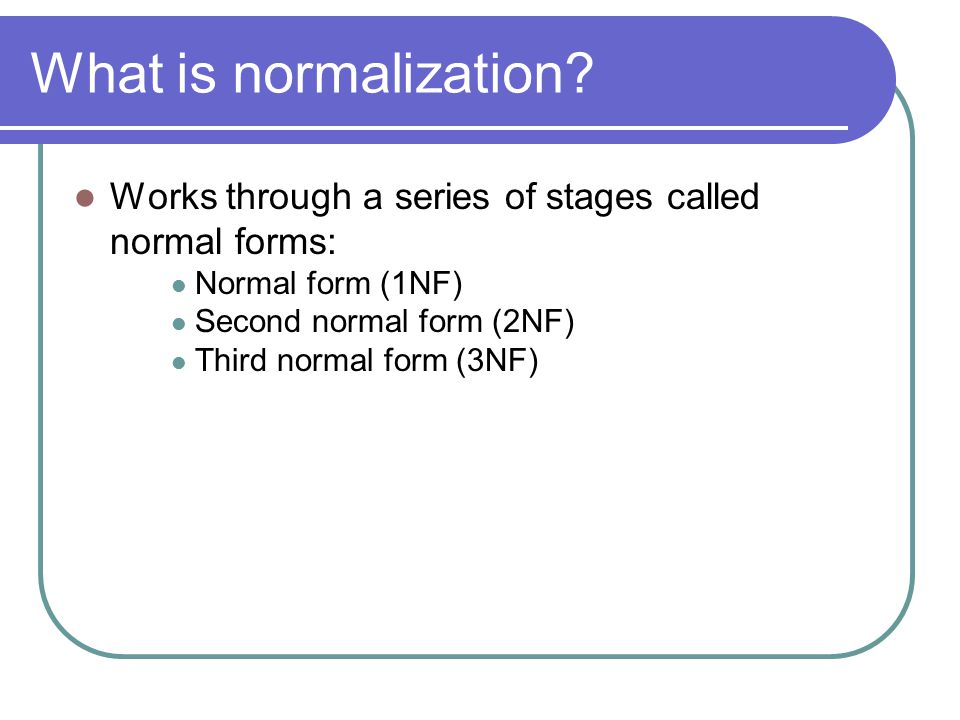 Difference Between 1NF and 2NF and 3NF