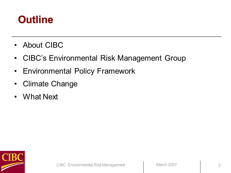 Climate Change Risks and Opportunities for CIBC - ppt ...