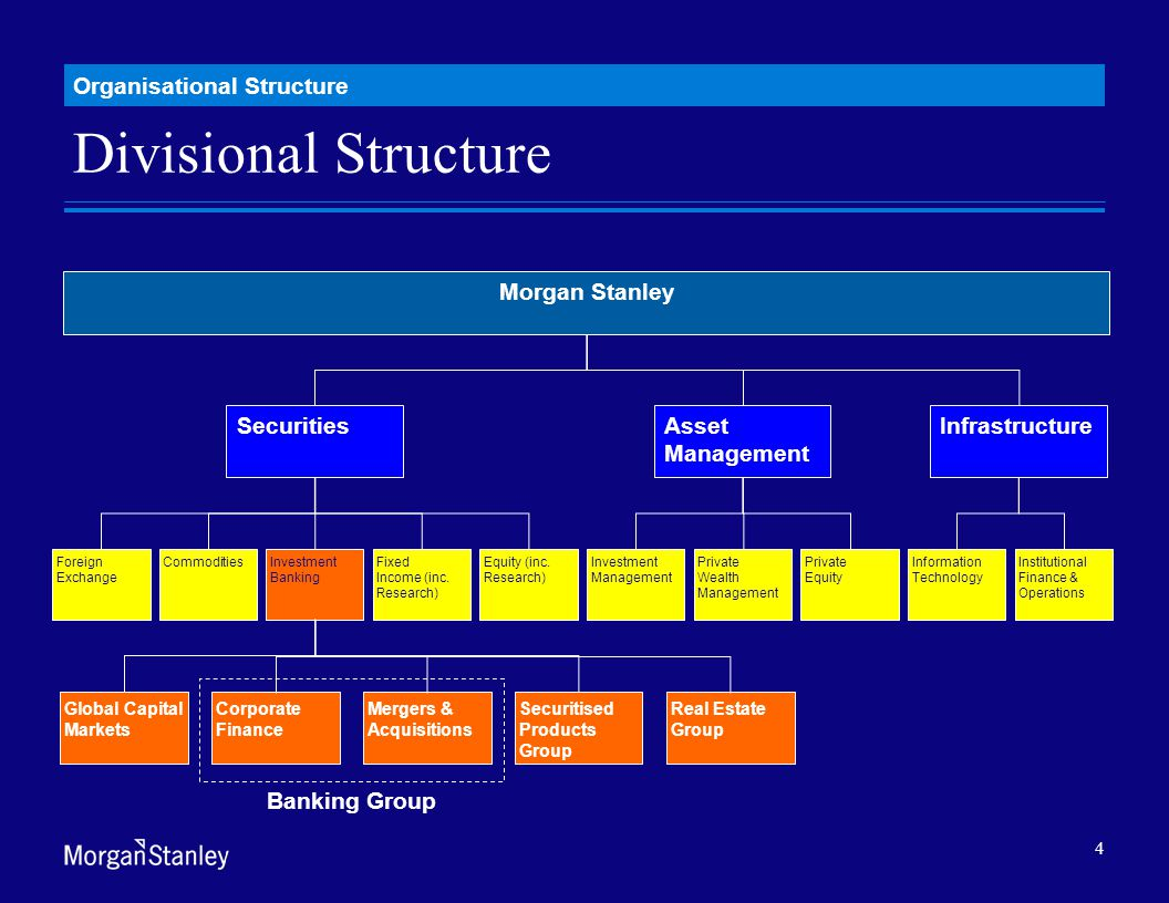 organizational structure of morgan stanley