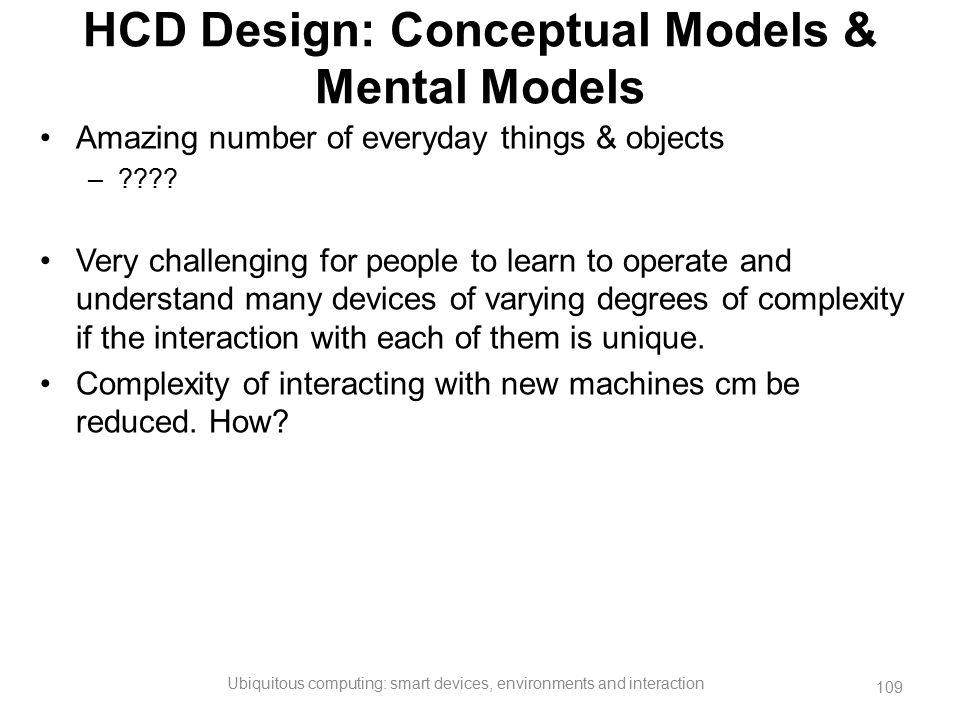 HCD Design: Conceptual Models & Mental Models